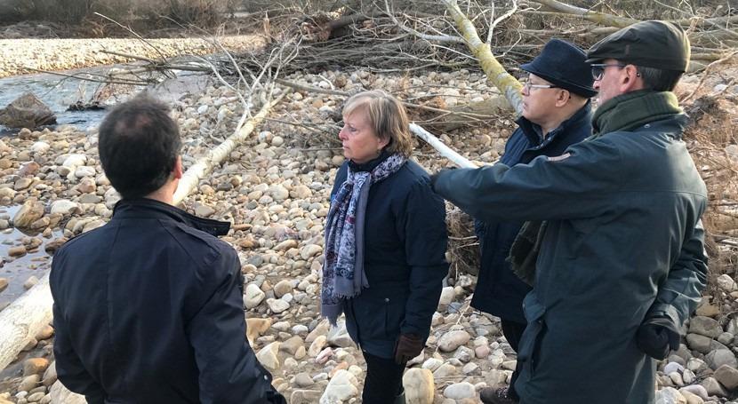 CHD visita zonas afectadas inundaciones León y evalúa situación cauces