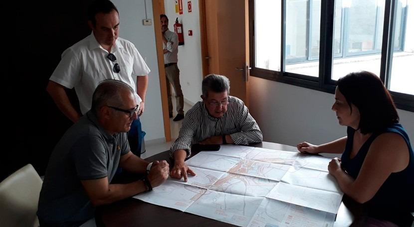 presidente CHG visita obras arroyo Arroyo Quejigo paso Algámitas
