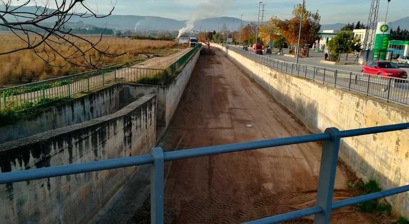 Finalizan trabajos limpieza barranco Lobo Huétor Tájar
