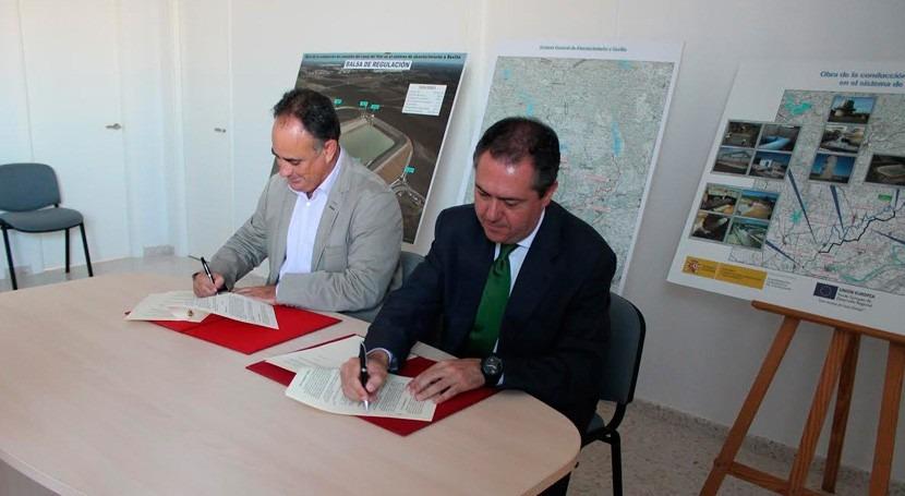 Acuerdo CHG y Emasesa gestión conducciones embalse Melonares