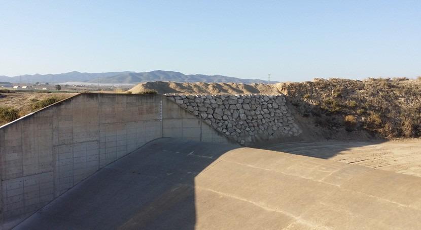 Finalizadas obras emergencia avenidas presa Paretón Totana
