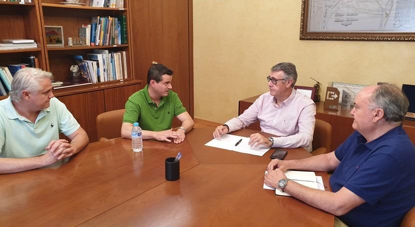 Confederación Segura y Ayuntamiento Albudeite tratan estado río Mula