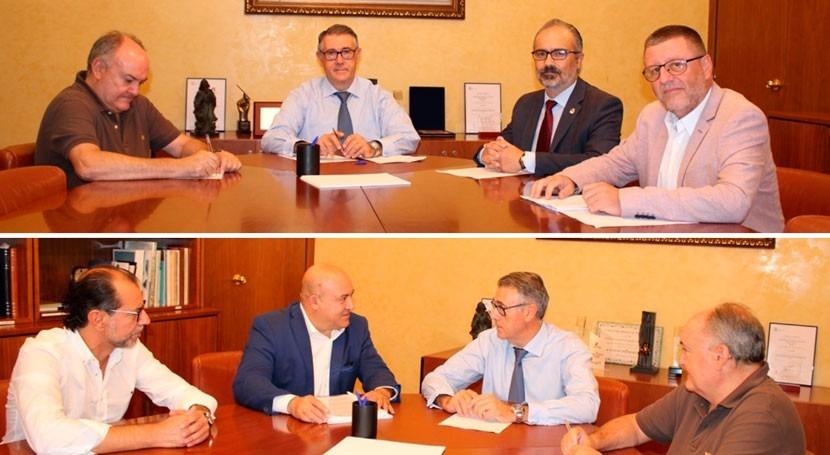 Mario Urrea trata temas gestión cuenca alcaldes Caravaca, Cieza y Fortuna