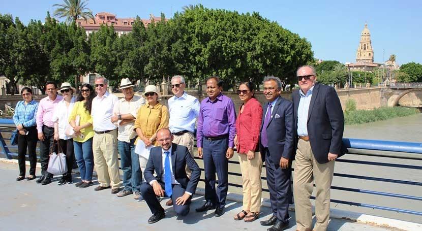 delegación líderes India visita España conocer gestión río Segura