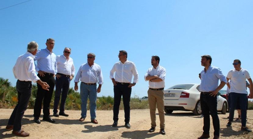 presidente CHS visita ramblas Lorca, Mazarrón y Alcázares