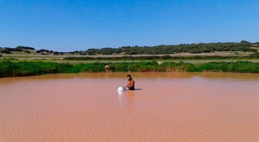 balsas y estanques temporales emiten CO2 incluso cuando no tienen agua