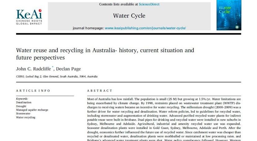 reutilización agua Australia: fuente inspiración