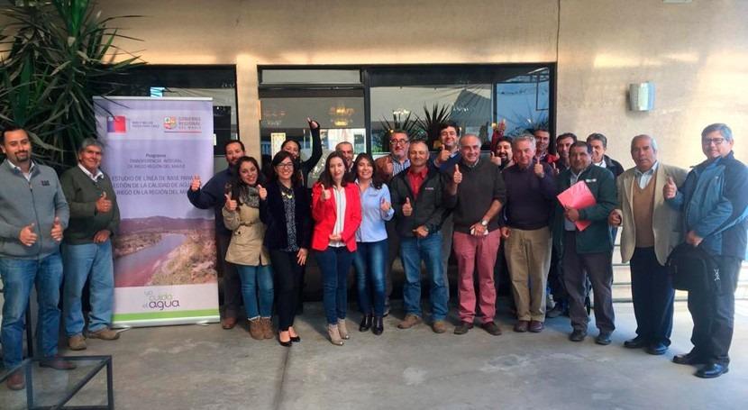 CNR y GORE Maule realizan seminario resguardar calidad recurso hídrico riego