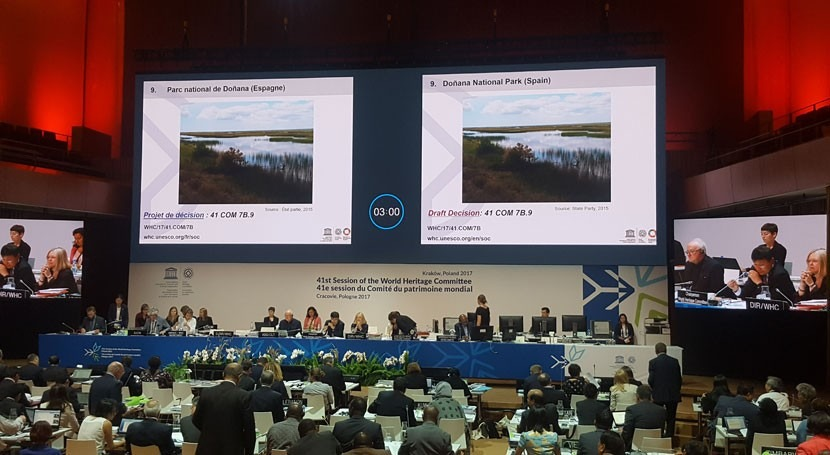 Gobierno España, orgulloso apoyo UNESCO esfuerzo conservar Doñana
