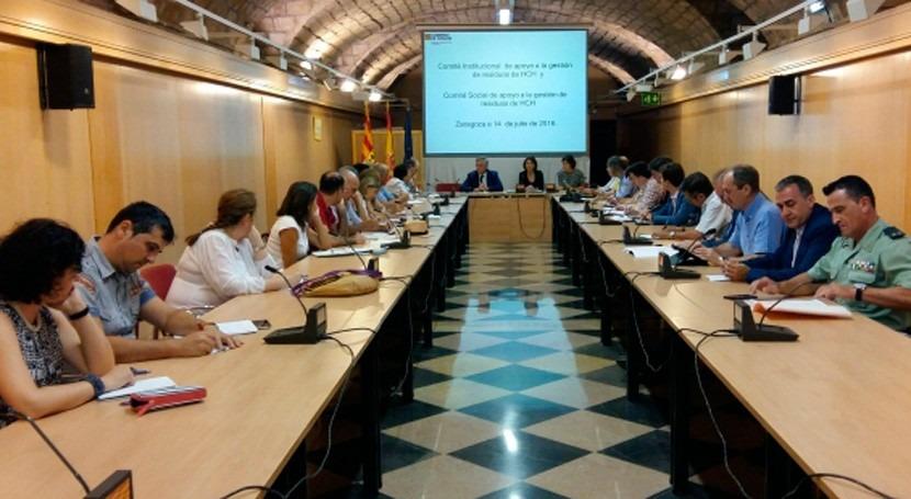 Reunión comités Aragón conocer avances descontaminación lindano