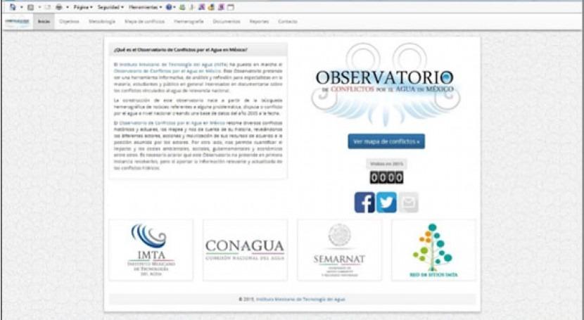 IMTA crea observatorio conflictos agua