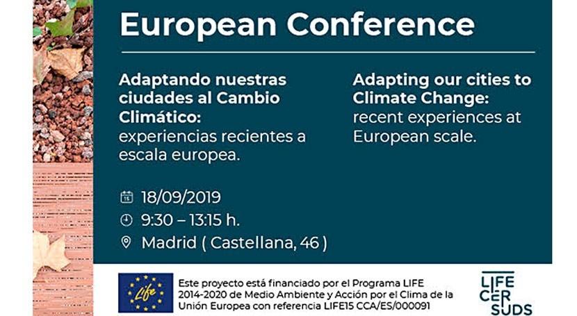 proyecto LIFE CERSUDS presenta resultados próximo 18 septiembre