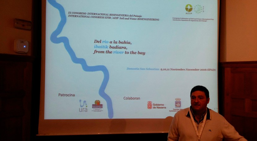 restauración fluvial cuenca Ebro, tema congreso Bioingeniería Paisaje