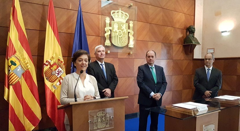 Inversión 9,4 millones euros modernizar regadíos Molinar Flumen Aragón