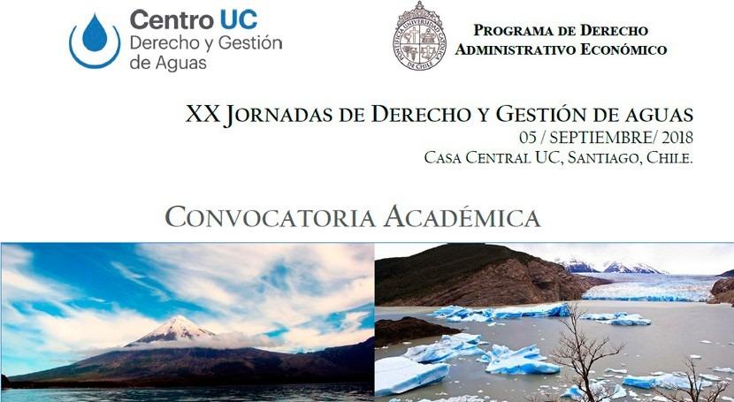 Convocatoria Académica: XX Jornadas Derecho y Gestión Aguas