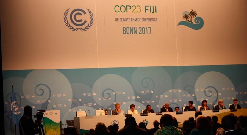 COP 23 mantiene impulso político lucha cambio climático