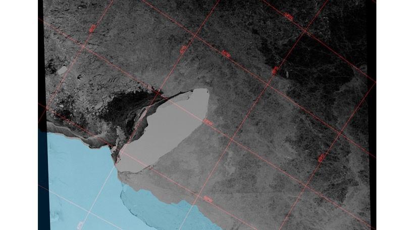 iceberg A68 se desvía repentinamente y va rumbo colisionarse banquisa antártica