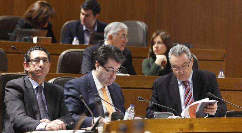 Boné (PAR) y Palacín (CHA) han presentado los textos al resto de diputados.