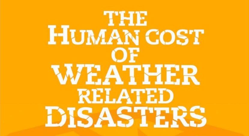 1995, más 600.000 personas han muerto debido desastres naturales