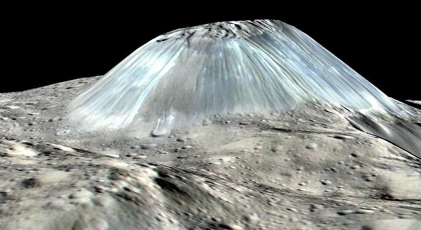 planeta enano Ceres podría tener volcanes hielo que desaparecen