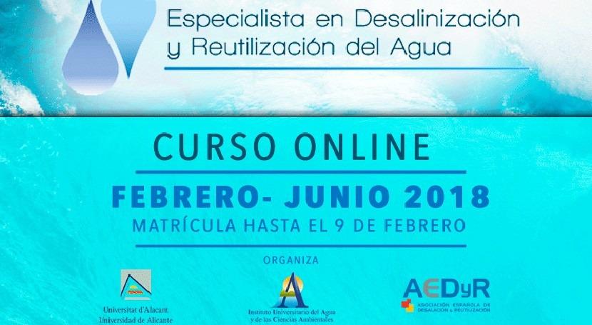 Últimos días inscripción ser Especialista Desalinización y Reutilización Agua