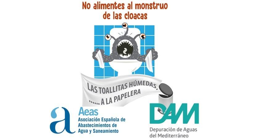 "DAM se adhiere campaña ""monstruo cloacas"", impulsada AEAS"