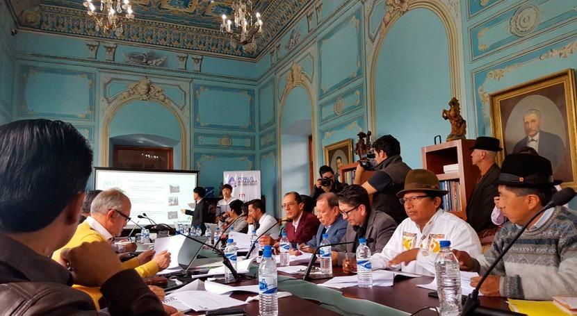 debate proyecto agua potable y riego mancomunidad Pesillo-Imbabura Ecuador
