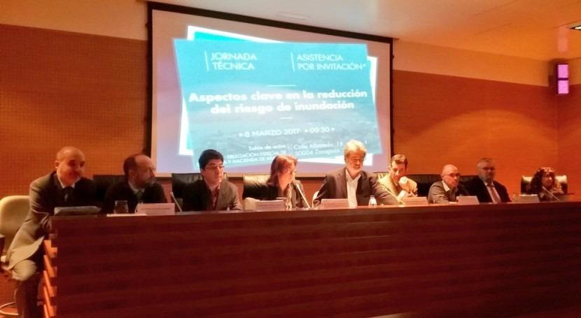 """Jornada """"Aspectos Clave Reducción Riesgo Inundación"""" cuenca Ebro"""
