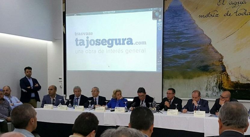 regantes Murcia, Alicante y Almería, unidos defensa trasvase Tajo-Segura