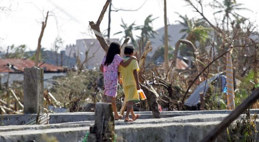 Desplazados por el tifon Haiyan en Filipinas (ONU).