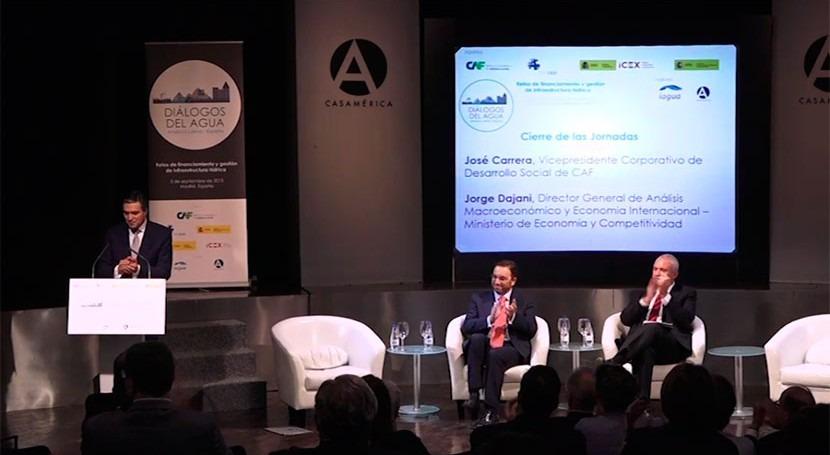 CAF y España, unidos mejorar gestión agua América Latina