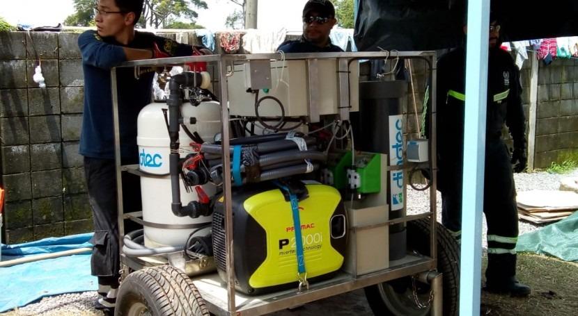 BUSF España potabiliza agua Guatemala tecnología DINOTEC