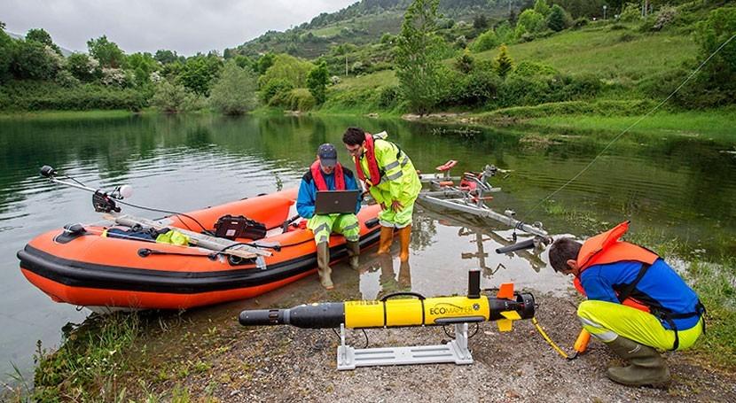 estudio batimétrico permitirá conocer precisión relieve subacuático embalse Eugi