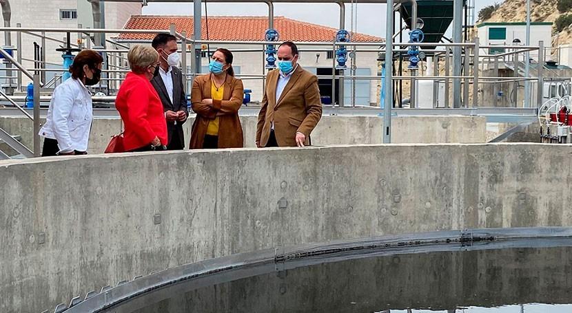 Junta Andalucía inaugura depuradora Antas, Almería