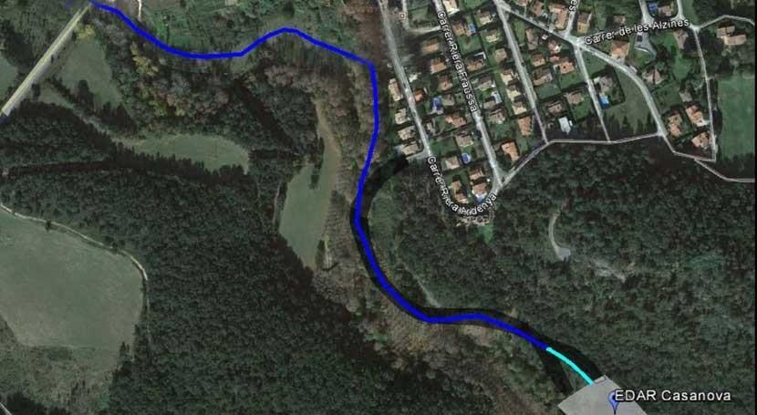 proyecto mejorar saneamiento Maçanet Cabrenys, información pública