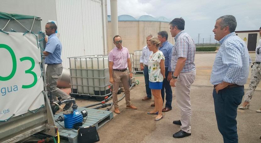 EDAR Alcázares elimina 97% nitratos contenidos agua