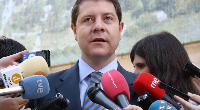 El candidato del PSOE a la Presidencia de Castilla-La Mancha, Emiliano García-Page.