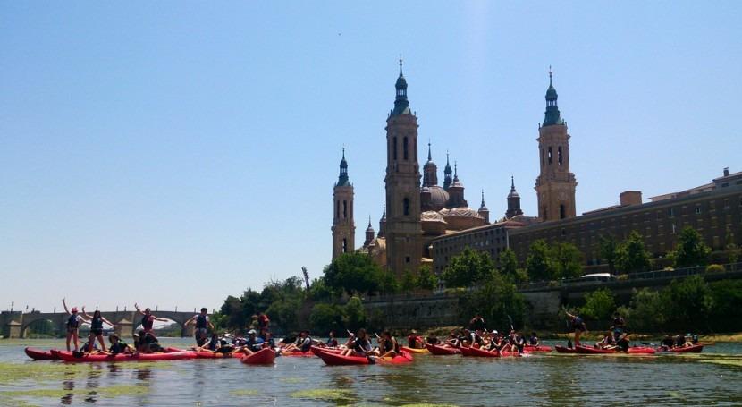 Distintas miradas, distintos ríos: Ebro estiaje