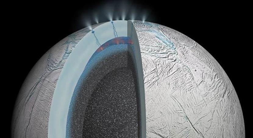 Imagen de Encélado (NASA).