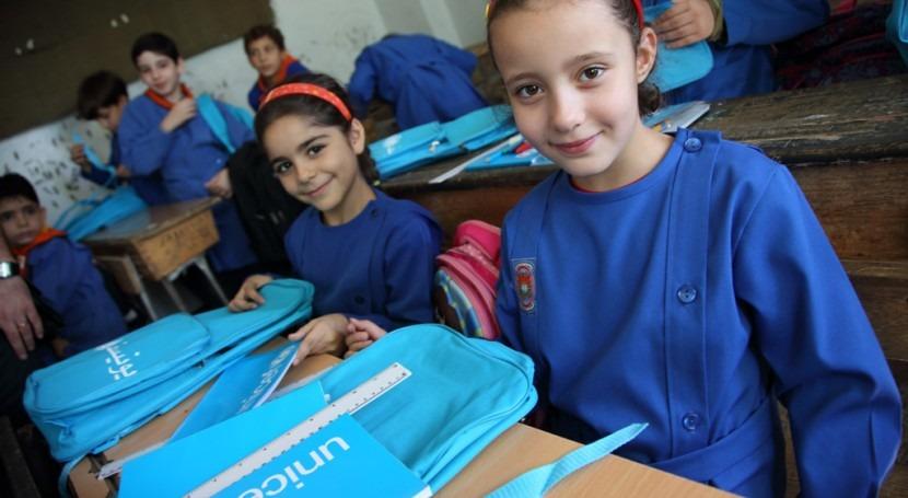 UNICEF y Reino Unido colaboran mejorar saneamiento escuelas Siria
