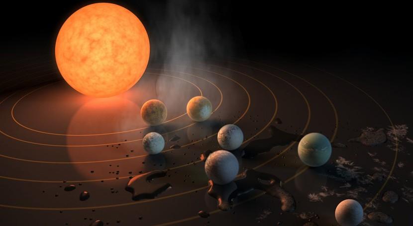 línea donde hielo cambia agua, crucial formación 7 planetas TRAPPIST-1