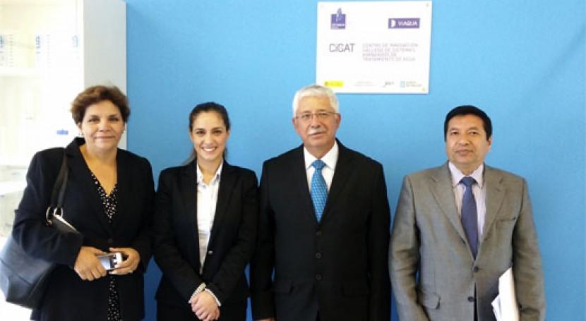 Cetaqua Galicia recibe visita Universidad ESPE Ecuador