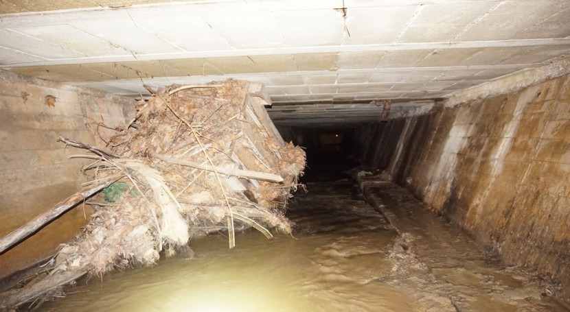 URA saca aguas arroyo Zubitegi cobertura 150 m paso Mallabia