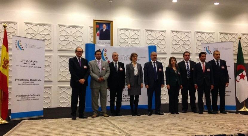 Representantes de los países firmantes del acuerdo