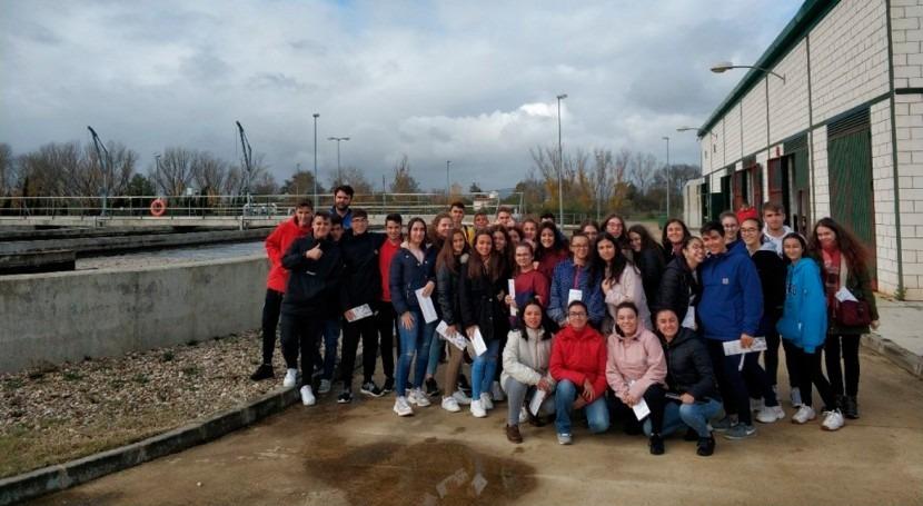 ACCIONA organiza visita EDAR Moraleja Cáceres