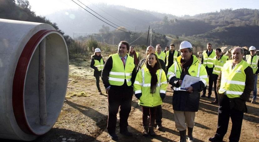 Ethel Vázquez, consejera de Medio Ambiente, Territorio e Infraestructuras ha visitado las obras