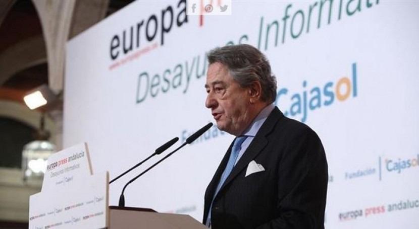 El consejero delegado de Atlantic Copper, Javier Targhetta, en el desayuno de Europa Press