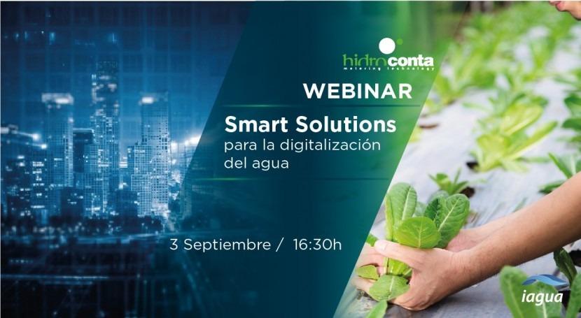 Webinar Hidroconta: Smart Solutions digitalización agua