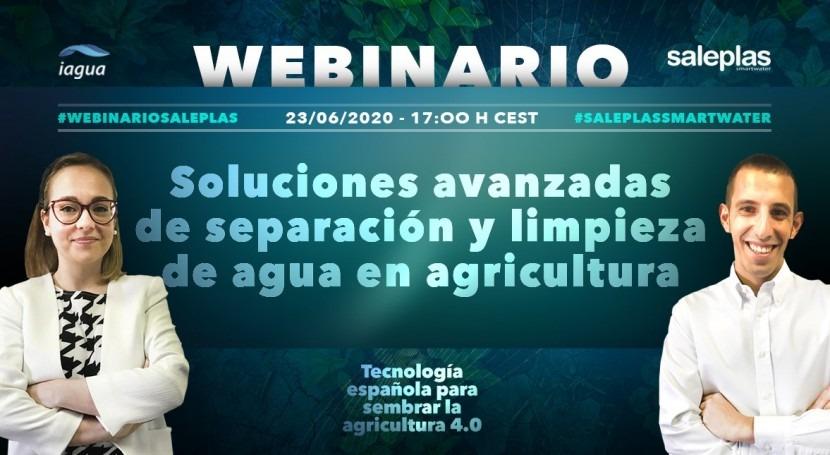 Webinar: Soluciones avanzadas separación y limpieza agua agricultura