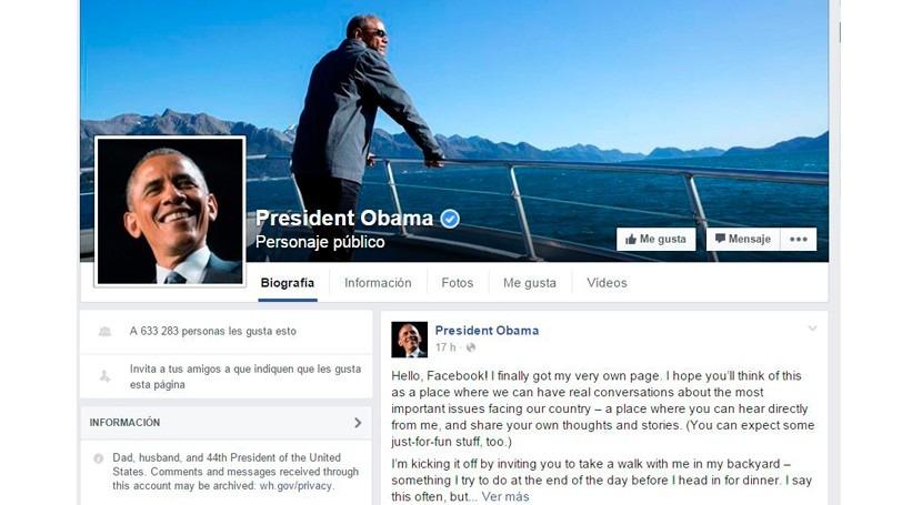 Obama estrena cuenta Facebook impulsar lucha cambio climático